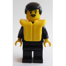 LEGO Policeman with Suit, Black Hair and Lifejacket Minifigure