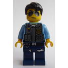 LEGO Policeman with Sunglasses and Black hair Minifigure
