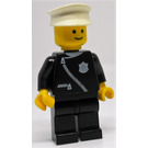 LEGO Policeman with Zipper and White Hat Minifigure