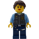 LEGO Policewoman with Brown Hair Minifigure