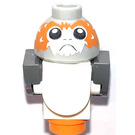 LEGO Porg with White Body, Dark Gray Tail and Wings Minifigure