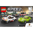 LEGO Porsche 911 RSR and 911 Turbo 3.0 Set 75888 Instructions