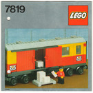 LEGO Postal Container Wagon Set 7819 Instructions