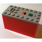 LEGO Power Functions Battery Box with Red Bottom (Non-Rechargeable) (87513)