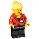LEGO Press Woman / Reporter with Bright Light Yellow Hair Minifigure
