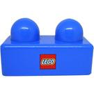 LEGO Primo Brick 1 x 2 with LEGO Logo (31001)