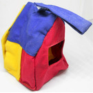 LEGO Primo Cloth House with Blue Roof, Yellow Door and Yellow/Red Walls with Window Hole