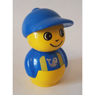 LEGO Primo Figure, Boy Yellow Base, Blue Top with Yellow Suspenders Primo Figure