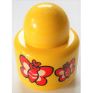 LEGO Primo Round Rattle 1 x 1 Brick with butterflies (31005)