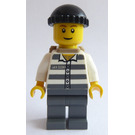 LEGO Prisoner 50380 with Black Knitted Cap and Backpack Minifigure