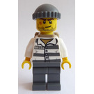 LEGO Prisoner 86753 with Scarred Face, Knitted Cap and Backpack Minifigure