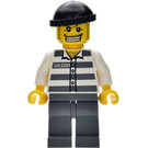 LEGO Prisoner Number 50380 with Gold Tooth, Black Cap and Dark Stone Grey Legs Minifigure