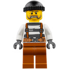 LEGO Prisoner with Harness, Dark Orange Legs and Black Knitted Cap Minifigure