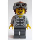 LEGO Prisoner with Missing Tooth, Aviator Hat and Goggles Minifigure