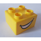 LEGO Quatro Brick 2 x 2 with Open Mouth Pattern (48138)