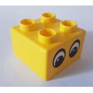 LEGO Quatro Brick 2 x 2 with Two Eyes Pattern (48138)