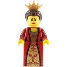 LEGO Queen with Red Dress and Crown Minifigure
