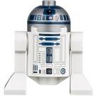 LEGO R2-D2 Figurine (Tête plate argentée, impression bleu foncé, points lavande)