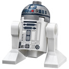 LEGO R2-D2 Minifigure (Flat Silver Head, Dark Blue Printing, Red Dots)
