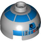 LEGO R2-D2 Star Wars Round Brick 2 x 2 Dome Top (Undetermined Stud) (64069)