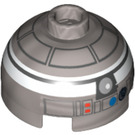 LEGO R2-Q2 Round Brick 2 x 2 Dome Top (Safety Stud without Bottom Axle Holder) (30367 / 94269)