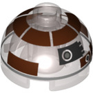 LEGO R3-M2 Brick 2 x 2 Round with Dome Top (Hollow Stud with Bottom Axle Holder x Shape + Orientation) (18841 / 33758)