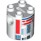 LEGO R5-D8 / R5-D4 Cylinder 2 x 2 x 2 Robot Body (Undetermined) (74376)