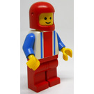 LEGO Race Car Driver with Red, White and Blue Striped Shirt Minifigure
