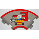 LEGO Racers Game Curved Track with flat tire penalty 3 points