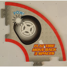 LEGO Racers Game Flat Tire Move Back 3 Spaces Card
