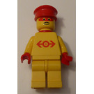 LEGO Railway Employee Lego Loco 1, Red Plastic Cape Minifigure