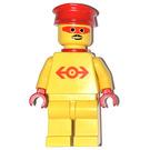 LEGO Railway Employee Lego Loco 1, Red Plastic Cape Minifigure