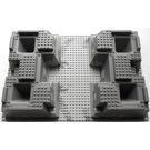 LEGO Raised Baseplate 32 x 48 x 6 With Four Corner Holes and Dark Gray Rocks Pattern (30271)