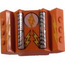 LEGO Rear 2 x 2 Motor Block with Light / Lightning Bolt (30601)