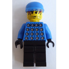 "LEGO Red and Blue Team Goalkeeper with ""1"" Minifigure"