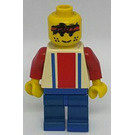 LEGO Red and Blue Team Player with Number 3 Minifigure