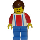 LEGO Red and Blue Team Player with Number 7 Minifigure