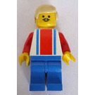 LEGO Red and Blue Team Player with Number 9 on Back Minifigure