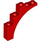 LEGO Red Arch 1 x 5 x 4 Regular Bow, Unreinforced Underside (2339 / 14395)