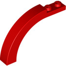 LEGO Red Arch 1 x 6 x 3 & 1/3 with Curved Top (6060 / 15967 / 30935)
