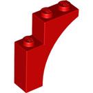 LEGO Red Arch Brick 1 x 3 x 3 (13965)