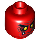 LEGO Red Ash Attacker Plain Head (Recessed Solid Stud) (23869)