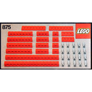 LEGO Red Beams with Connector Pegs Set 875