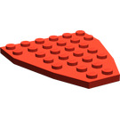 LEGO Red Boat Bow Plate 6 x 7 (2625)