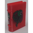 LEGO Red Book 2 x 3 with Vine Monster and Mushroom Decoration