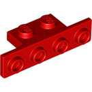 LEGO Red Bracket 1 x 2 - 1 x 4 with Rounded Corners and Square Corners (28802)