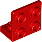 LEGO Red Bracket 1 x 2 - 2 x 2 Up (99207)