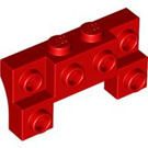 LEGO Red Bracket 2 x 4 x 0.66 with Front Studs and Thick Side Arches (52038)