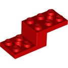 LEGO Red Bracket 2 x 5 x 1 1/3 with Holes (11215)