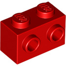 LEGO Red Brick 1 x 2 with Studs on One Side (11211)